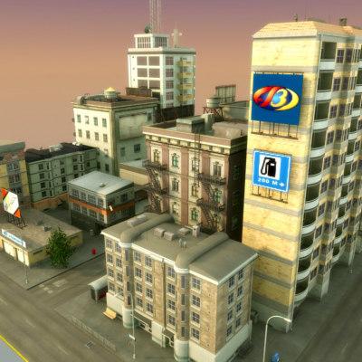 city block hd 3d model