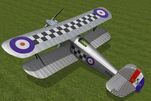 hawker fury fighter mk1 3d model