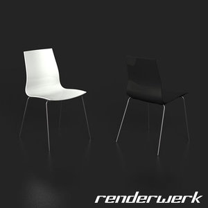 3d model chair anders nørgaard