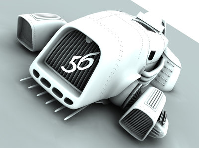 cinema4d car sci-fiction