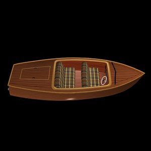 3d model inboard runabout