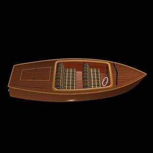 3d model inboard runabout