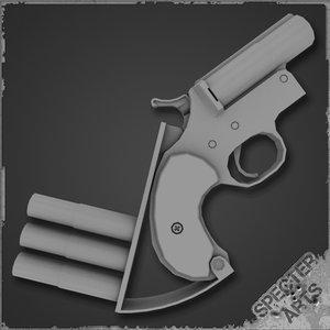 3d break flare pistol model