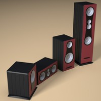3d model speakers musical separated