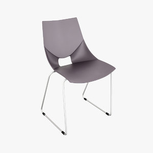 3ds max modern stacking chair mobexpert