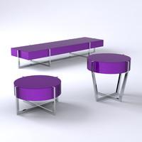 set spider tables 3d model