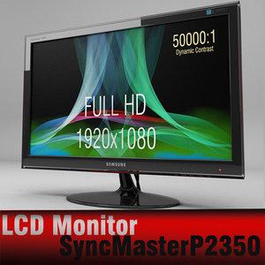 3d max samsung syncmaster p2350 monitor