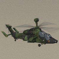 Eurocopter Tiger UHT German Army Attack Helicopter Game Ready Model