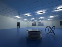 indoor light rooms 3d model