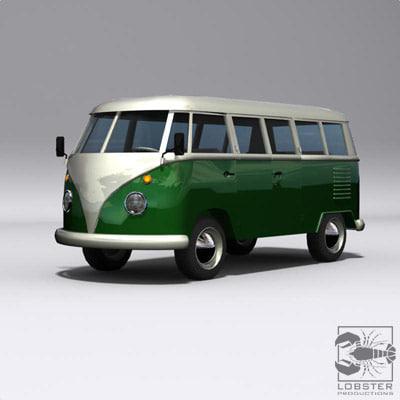 campervan minivan microbus 3d model