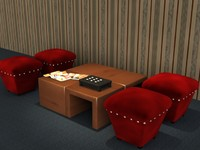 3d center table ottoman