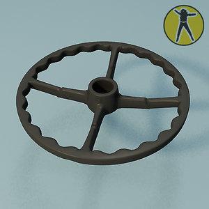 free chair wheel base rest 3d model