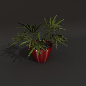 green plant 3d obj