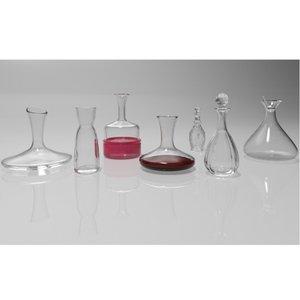 decanters 3d model