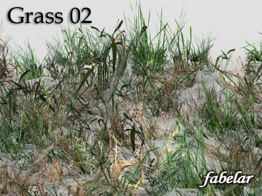 3d model realistic grass