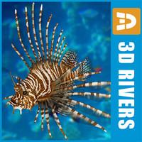 3d lionfish fish