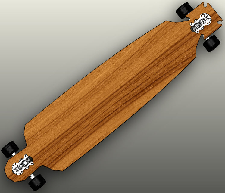 maltese shaped longboard solidworks 3ds