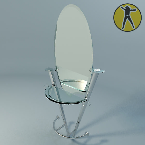 glass mirror table 3d model
