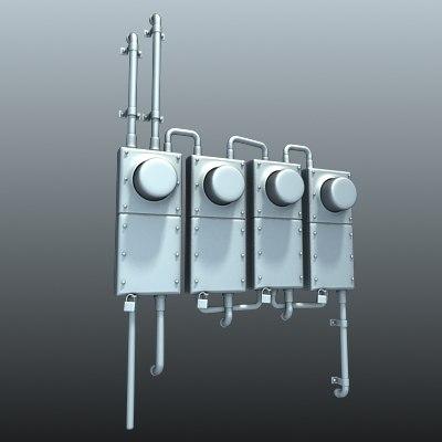 3dsmax electric meter
