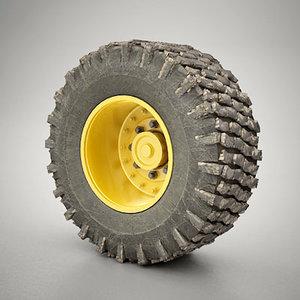 industrial wheel 3d model