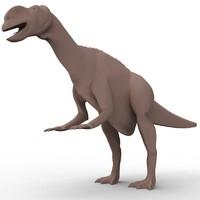 obj muttaburrasaurus herbivorous ornithopod