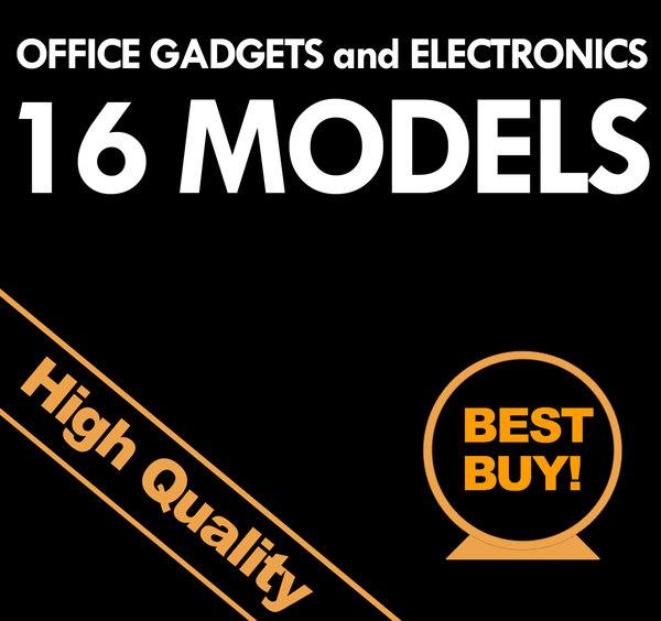 office electronics gadgets 3d model