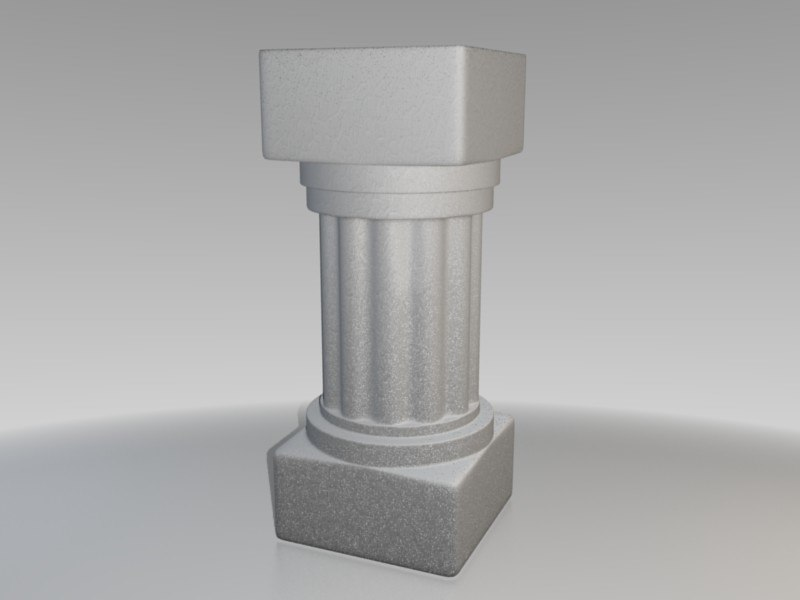 roman pedestal 3ds free