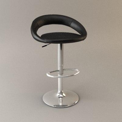 perugia kitchen stool 3d model