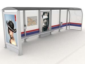 3d shelter bus tram