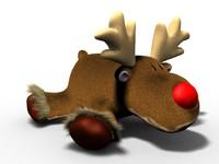 rudolph reindeer 3d model