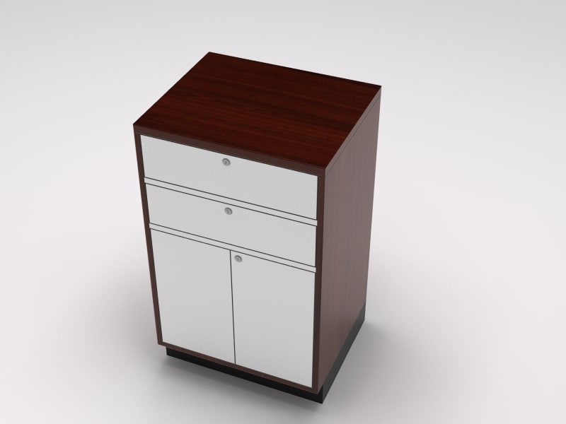 retail island counter cabinet 3d model