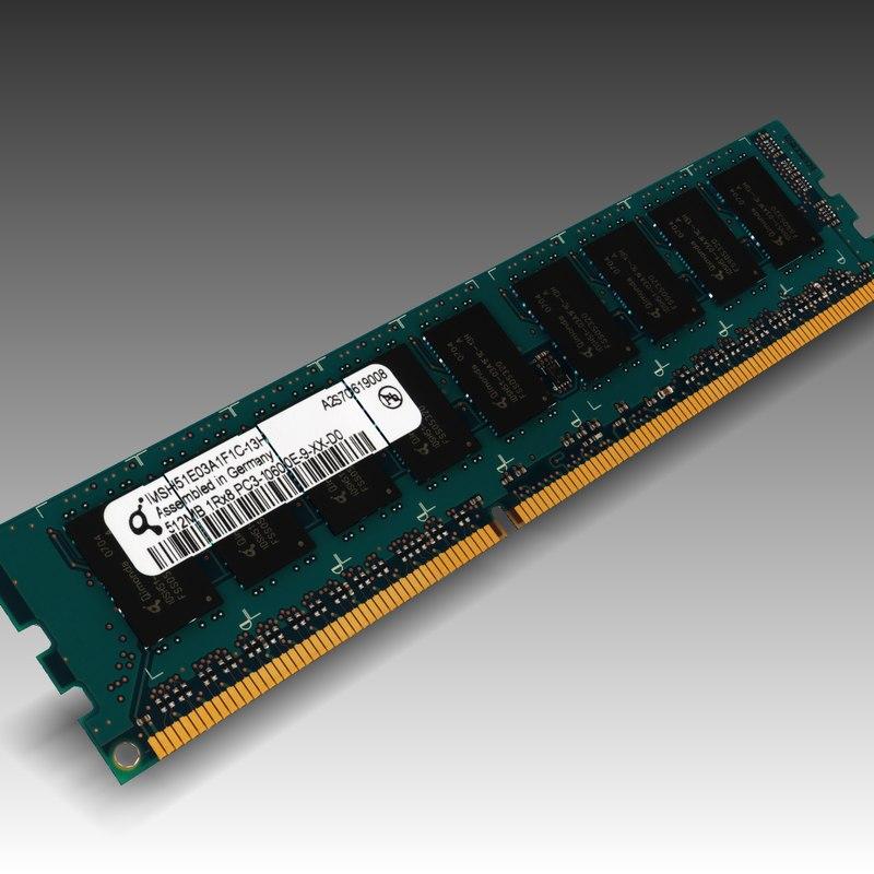 3d Model Ram Ddr3 512mb Pc3 10600