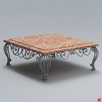 table coffee 3d 3ds