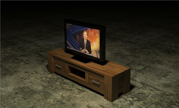Flatscreen Tv Meubel.3d Hubert Television Table Flatscreen Model