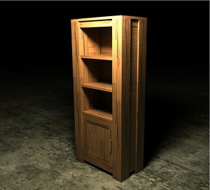 hubert book cabinet 3ds