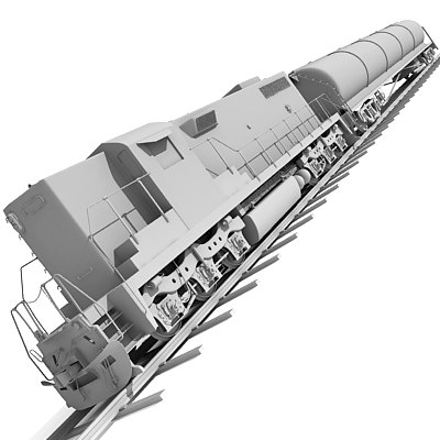 3ds max train tanker