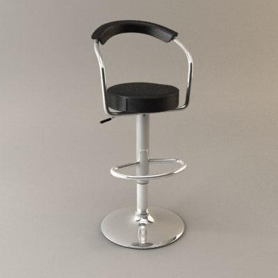 verona club stool 3d model