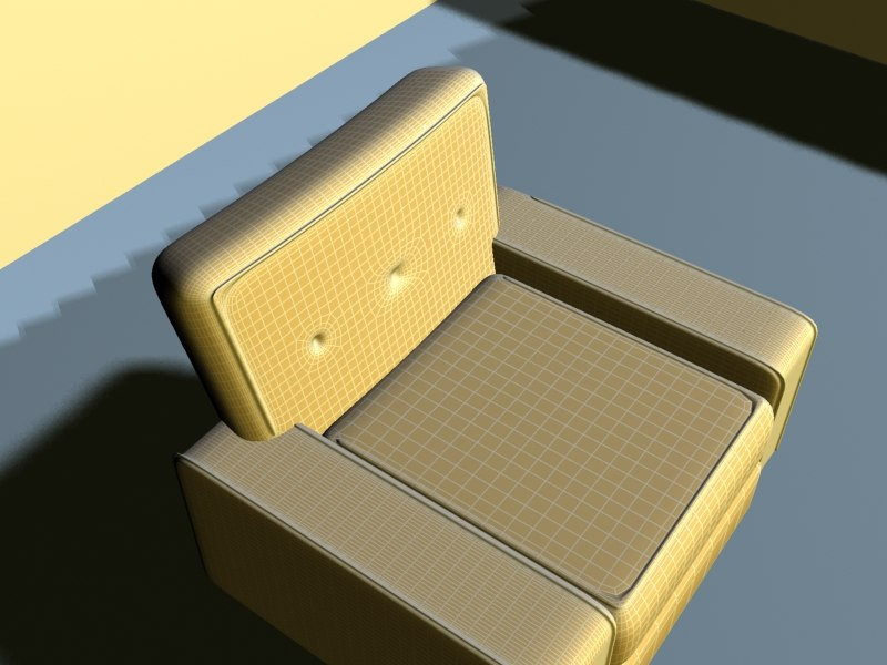 high-detailed sofa 3d model