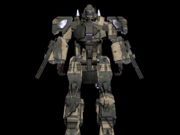 3d max mecha space battle