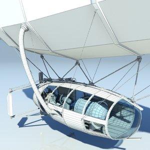 3d model of flying machine