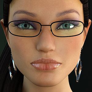 linda 5 rigged realistic female 3d model