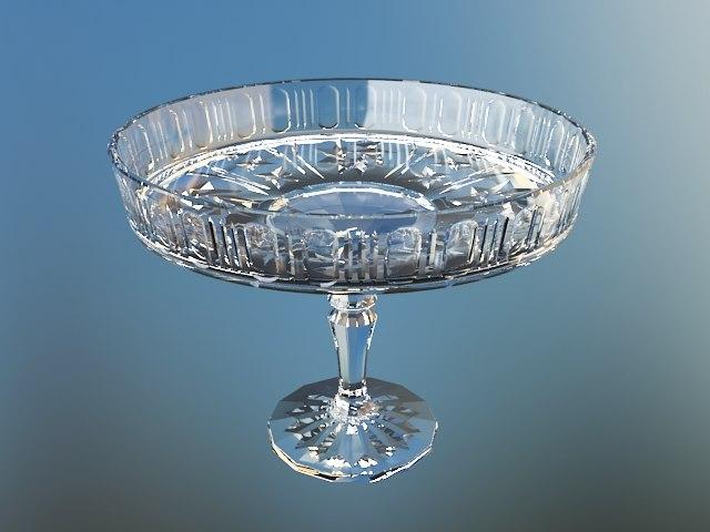 3d model crystal bowl