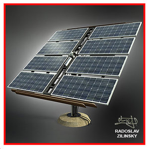 3d model of solar panels