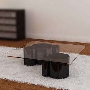 3d model tube tables