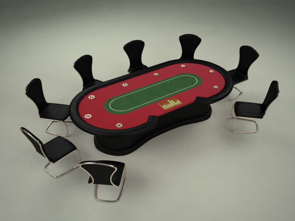 3ds texas poker table