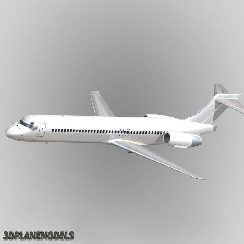 3d model b717-200 generic white 717