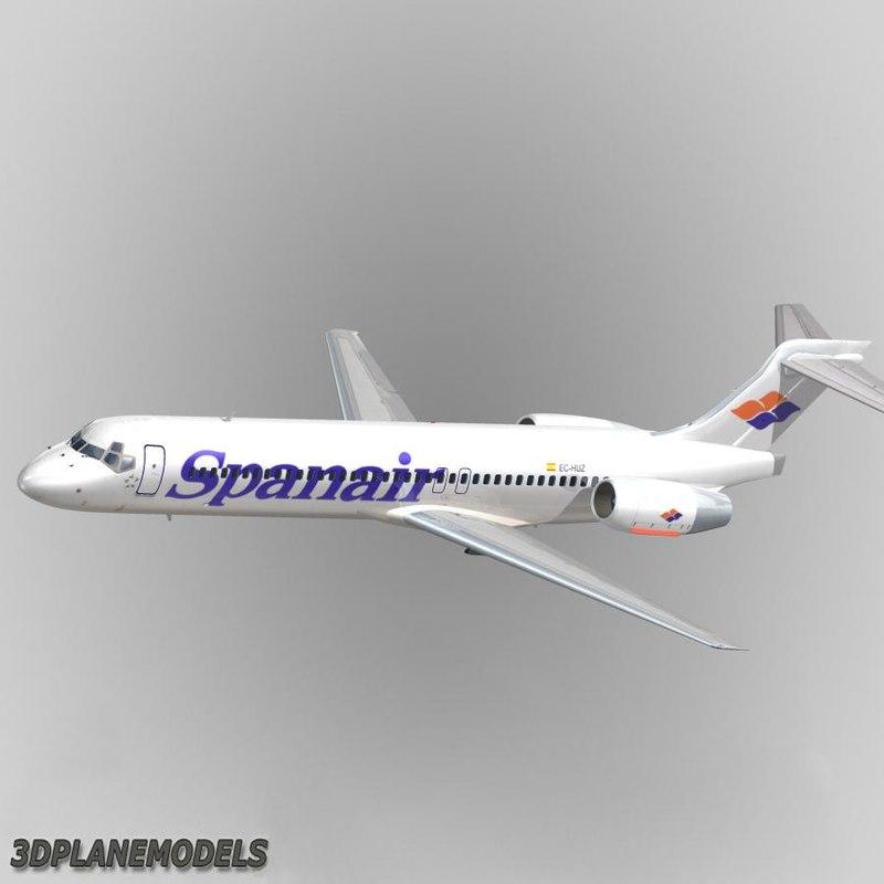 3d model b717-200 spanair