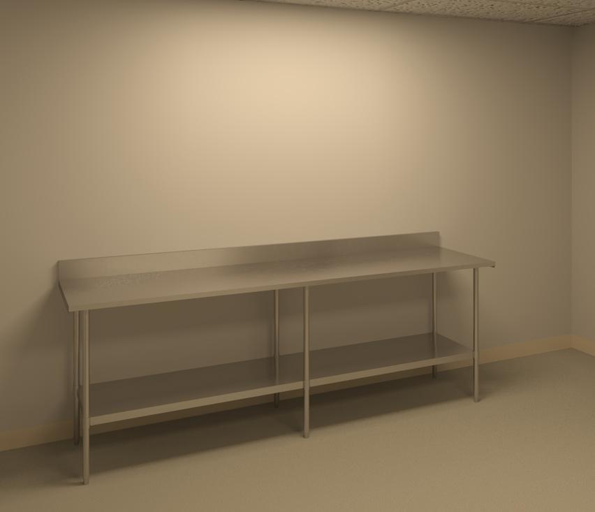 steel table 3d model