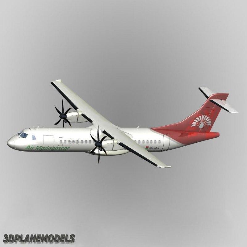 3d model of atr 72-500 air madagascar
