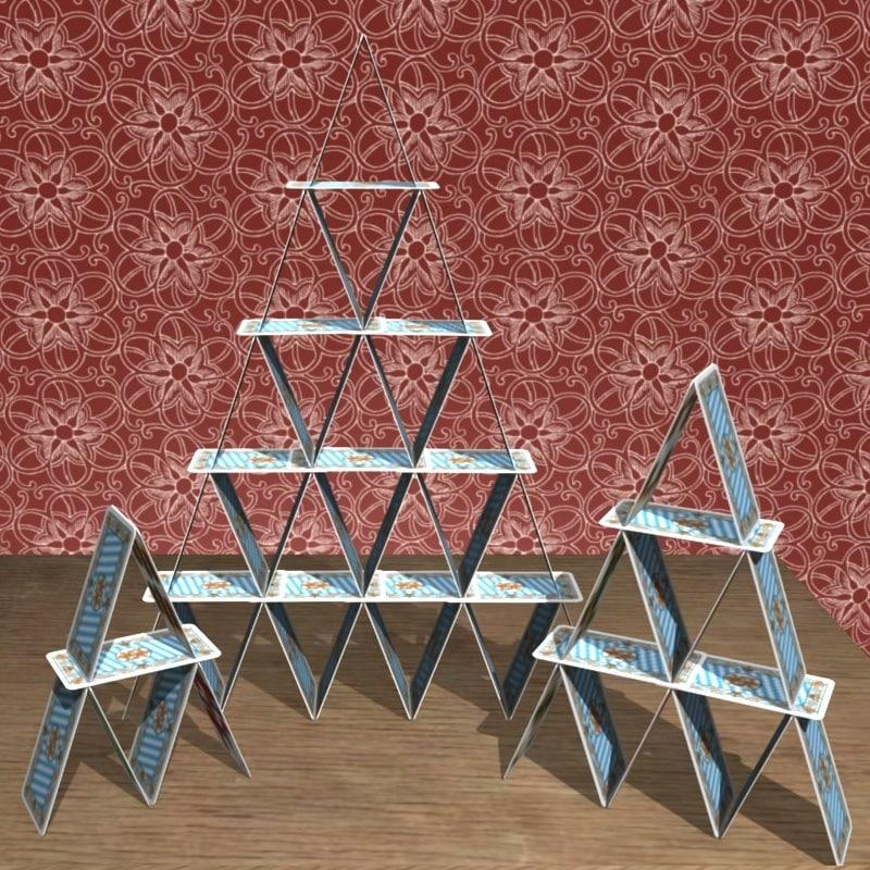 cardhouse cards 3d model